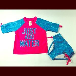 "NWTS- "" Just Add Water,"" Toddler Tankini Swim Suit"